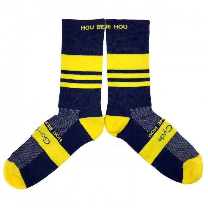"""""""Hou Bene Hou"""" Blue Cycling Socks"""