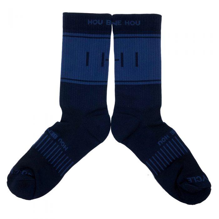"""Hou Bene Hou"" Navy Cycling Socks"